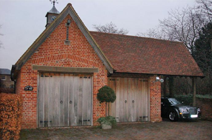 Garages and oak frames for Brick garage designs